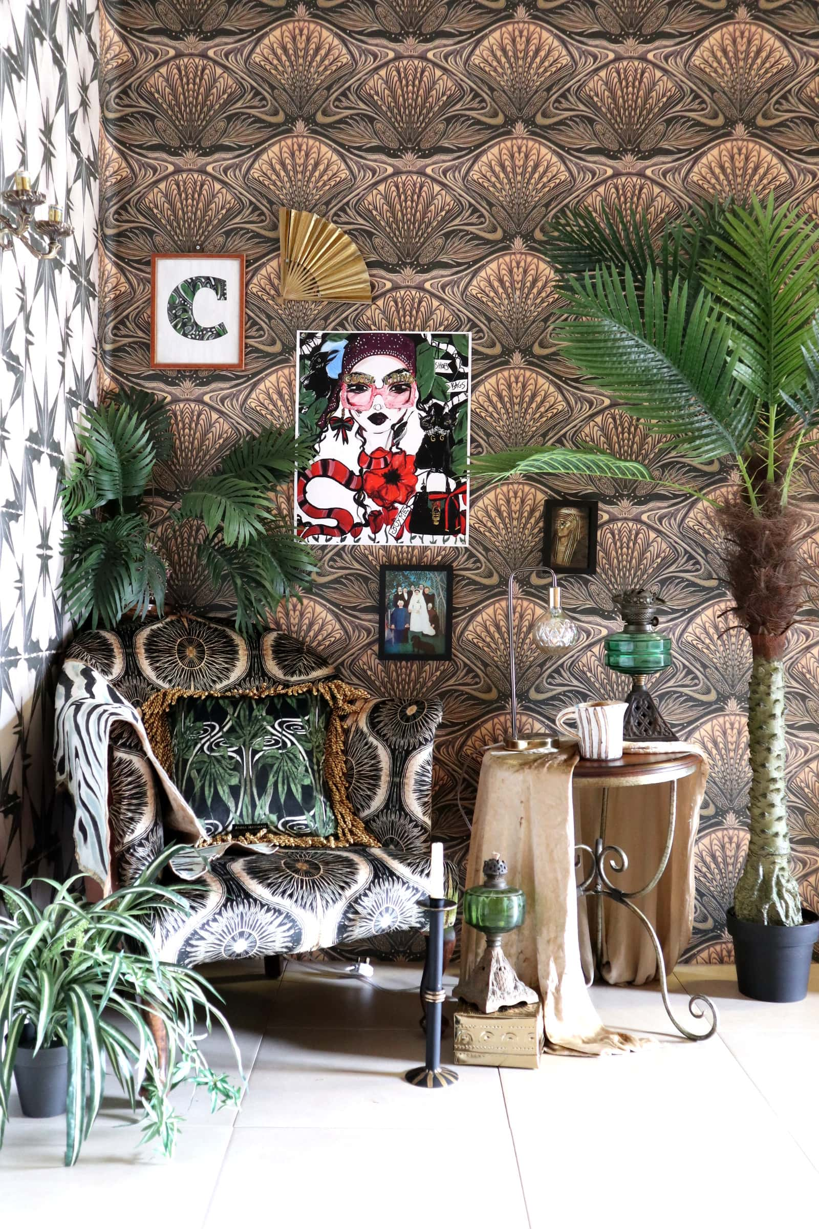 The New Studio – How to style Maximalist Wallpaper